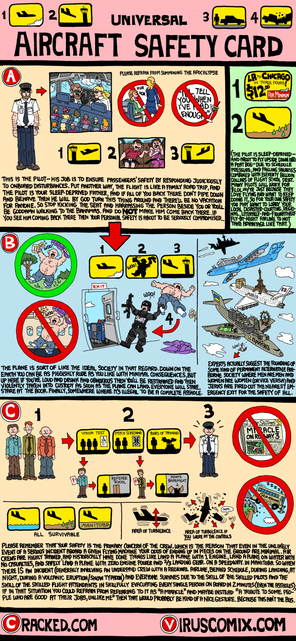 If airplane safety instructions were honest | cracked. Com.