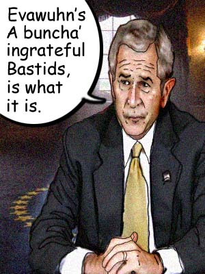 Bush cartoon