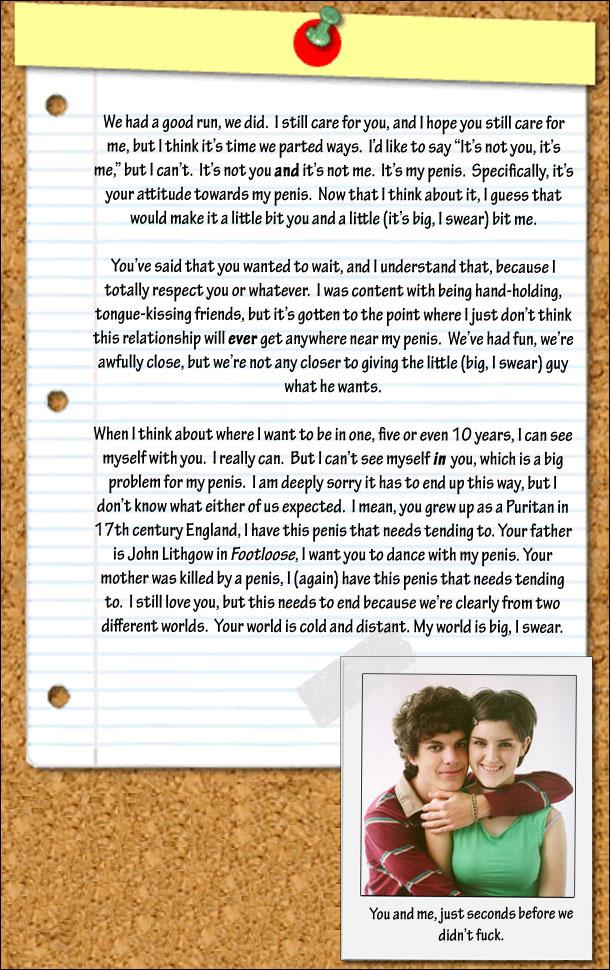 Most Honest Break Up Letter Ever | Cracked com