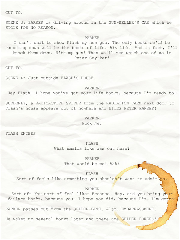 Proposed Script for Spider-Man 4: The Grittiest Reboot Ever
