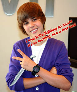 Justin Bieber's Favorite Knife Fighting Techniques | Cracked com