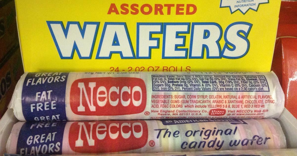 Hey! Remember Necco Wafers? Necco. They made waf - The Necco company. It was a candy. Like wafers. Yeah, neither do I.