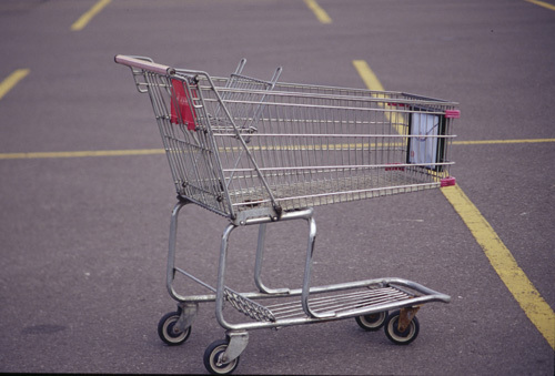 how to turn a shopping cart into a go kart