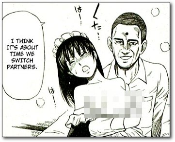 japanese cartoon sex wtf reaction - At one point in the middle of all this, Taro looks over at Obama and says,  \