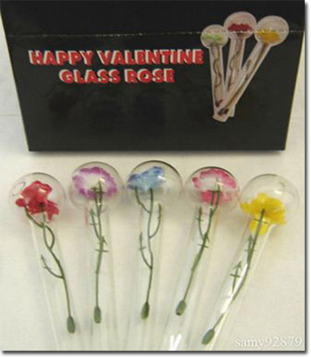 advertisement - Happy Valentine Glass Rose Pipe