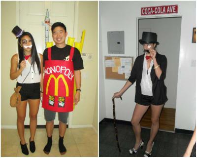 Monopoly man black and white dress