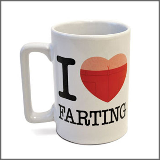 8 i heart farting mug - Funny Gag Gifts For Christmas