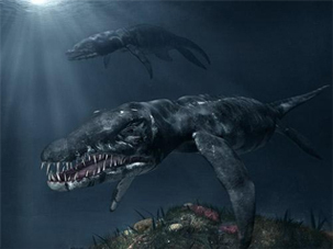 8 prehistoric creatures ripped directly from your - Dinosaure marin carnivore ...