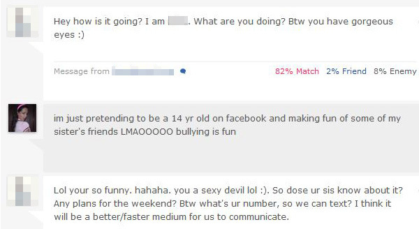 Internet dating messaging