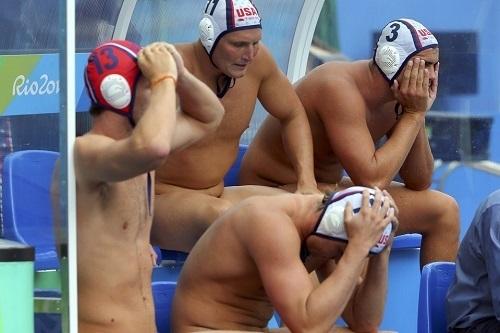 Water polo boner men