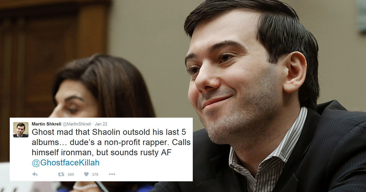 Reasons To Like Or At Least Respect Martin Shkreli