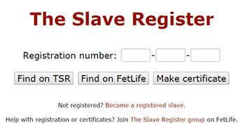 Bdsm slave registry