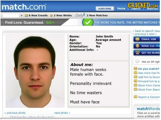 Hilarious dating profiles online