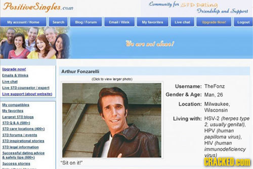 Stereotypical dating site profile