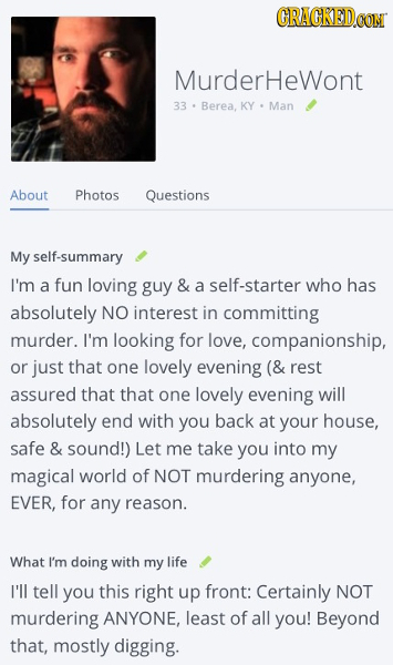 cracked worst online dating profile