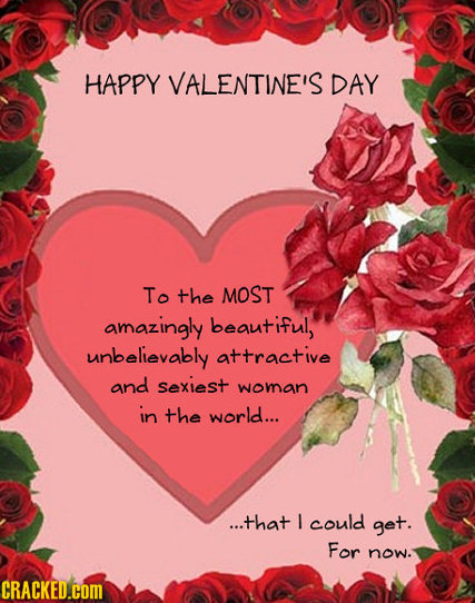 23 Painfully Honest Valentines Day Cards – Most Beautiful Valentine Cards