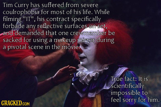 The 34 Most Mind-Blowing Behind-the-Scenes Factoids Ever  Coulrophobia