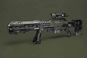 Nerf gun in sci fi movie