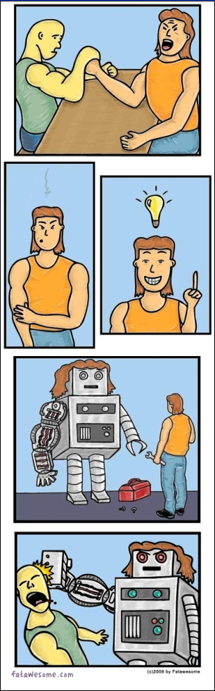 Revenge Is Sweeter When Robots Are Involved [Comic]