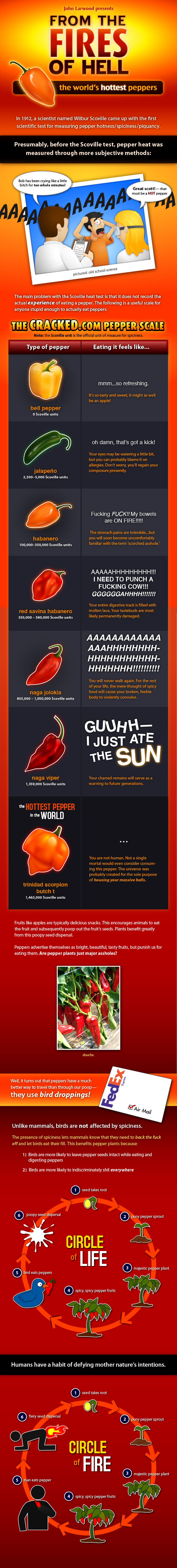 The Science Behind Stupidly Hot Peppers [CHART]