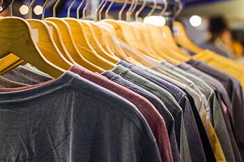 5 Harsh Realities Of Joke Theft a row of t-shirts
