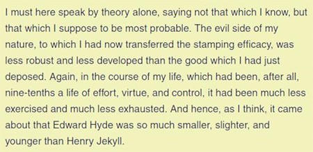 5 Classic Characters Nearly Every Adaptation Gets Wrong - a passage describing how Mr. Hyde is physically smaller than Dr. Jekyll