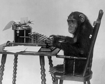 5 Harsh Realities Of Joke Theft a monkey with a typewriter