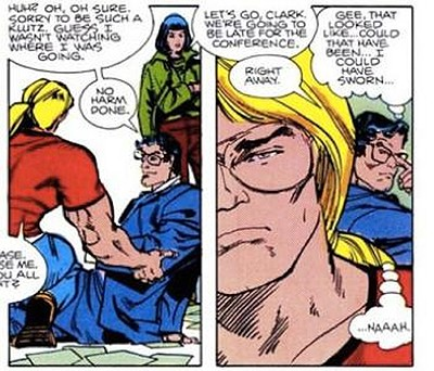 5 Weird Details Of Fictional Universes Nobody Told You - Clark Kent shows up in lots of Marvel Comics despite being a DC Comics character; here is in a Thor comic