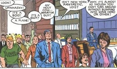 5 Weird Details Of Fictional Universes Nobody Told You - Clark Kent shows up in lots of Marvel Comics despite being a DC Comics character; here is in a X-Men comic