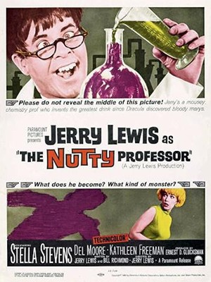 5 Classic Characters Nearly Every Adaptation Gets Wrong - a poster for the Nutty Professor starring Jerry Lewis