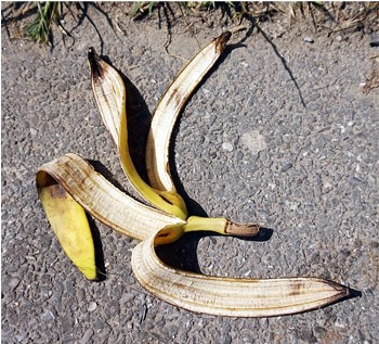 The Con Man So Good, He Had Mind Control Powers (Basically) - a banana peel on the ground