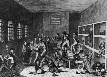 Historical depiction of all that punching.