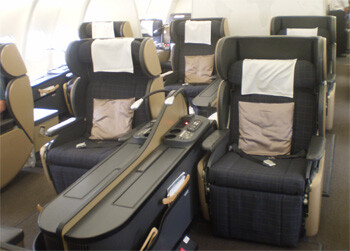 first class cabin onboard SWISS international airlines airbus A340-400
