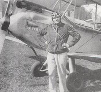 Wilson, shortly before his plane took off by itself and crashed into a hill like something out of a <i>Daffy Duck</i> cartoon.