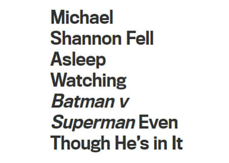 Michael Shannon Fell Asleep Watching Batman V Superman Even Though He's in It