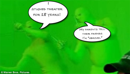 STUDIED THEATER FOR 18 YEARS! My PARENTS TELL THEIR FHENDE I'M ABRDAD.