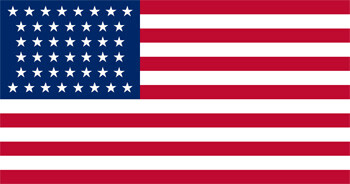 US flag with 44 stars