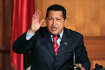 5 Dumb Garbage Conspiracy Theories Spreading Right Now | Hugo Chavez giving a speech