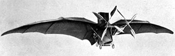 5 Photos Of The Past That Look Like Trippy Fantasy - a steam-powered bat plane from 1890s France