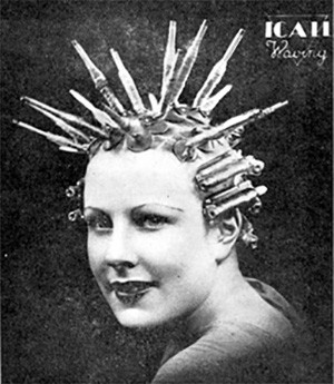 5 Photos Of The Past That Look Like Trippy Fantasy - a woman with permed hair from the 1920s