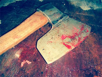 The Crazy Real Story Of Wisconsin's Massage Parlor (And Cyanide) Murders - a bloody axe