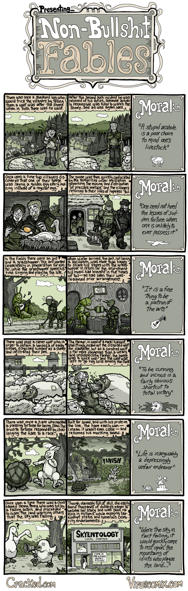 If Classic Fables Actually Told the Truth [COMIC]