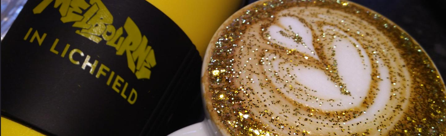Edible Glitter Coffee Is Happening. Don't Get Mad.