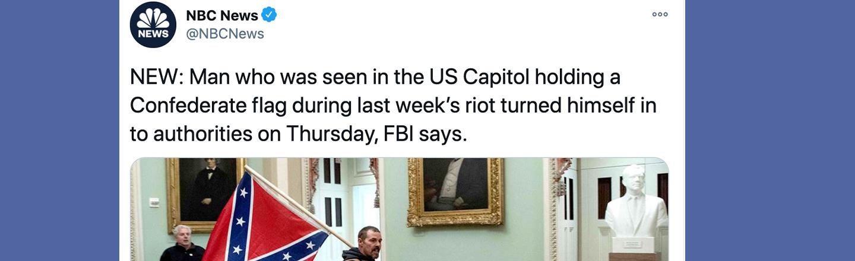 Confederate Flag-Wielding Insurgent Surrenders, Surprise Surprise