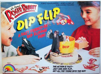 md RAB8IT JOTOARARS-AES4ANOUP 46 RoGE DIPF4IR FRENZYOE AN RUPPIN DIP RUN DIP THE ACTION ET FAT- JUTT AIM AND FLIP CET ALL THE TOONS INTO THE D/P!