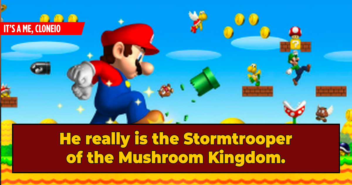 Irrefutable Evidence Mario Is A Vat-Grown Supersoldier
