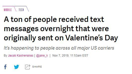 Lots Of People Just Received Old Valentine's Day Texts