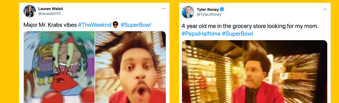 6 Things The Weeknd's 'Super Bowl' Halftime Show Looked Like, According to Twitter
