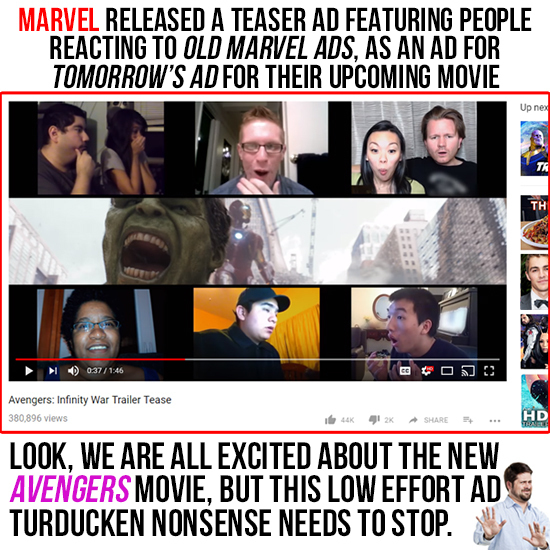 Marvel's Teaser Trailer Is An Ad For An Ad, Made Up Of Ads