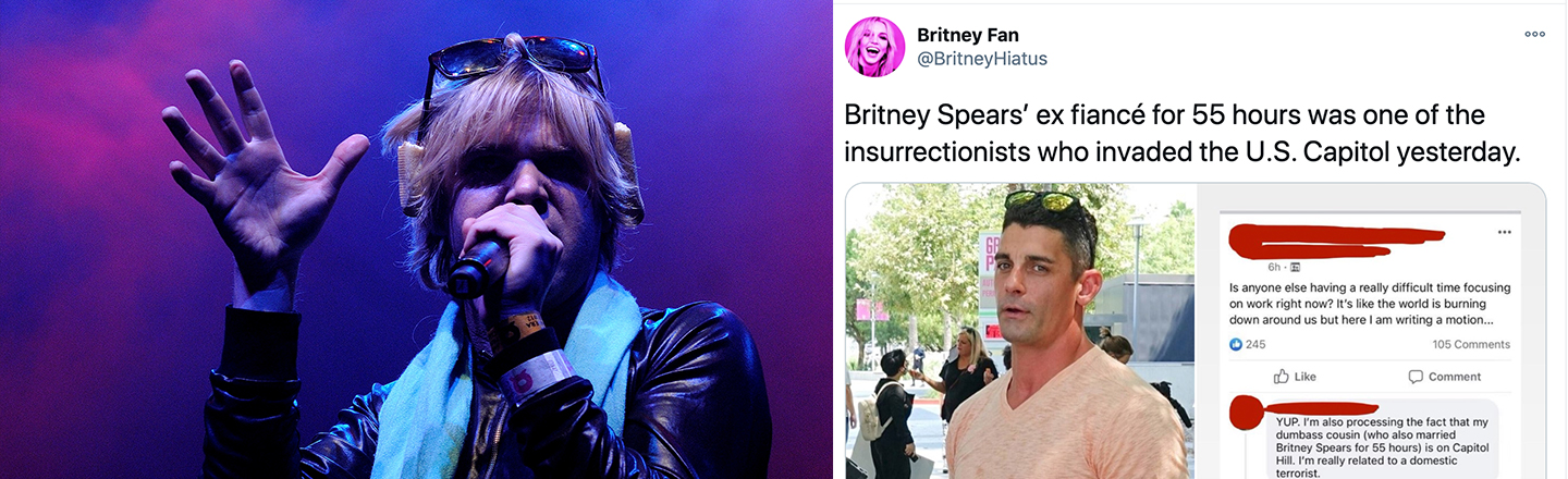 Capitol-Sieging Yahoos Include Britney Spears' ex, Washed-Up Indie Boy
